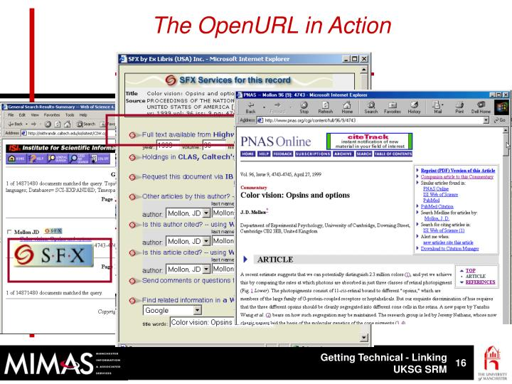 The OpenURL in Action
