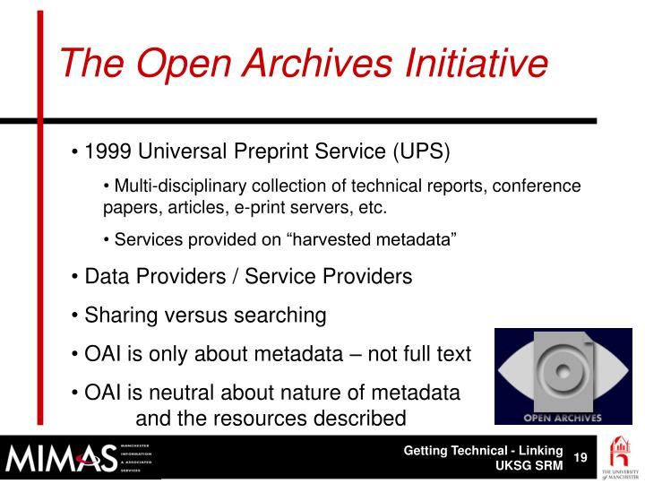 The Open Archives Initiative