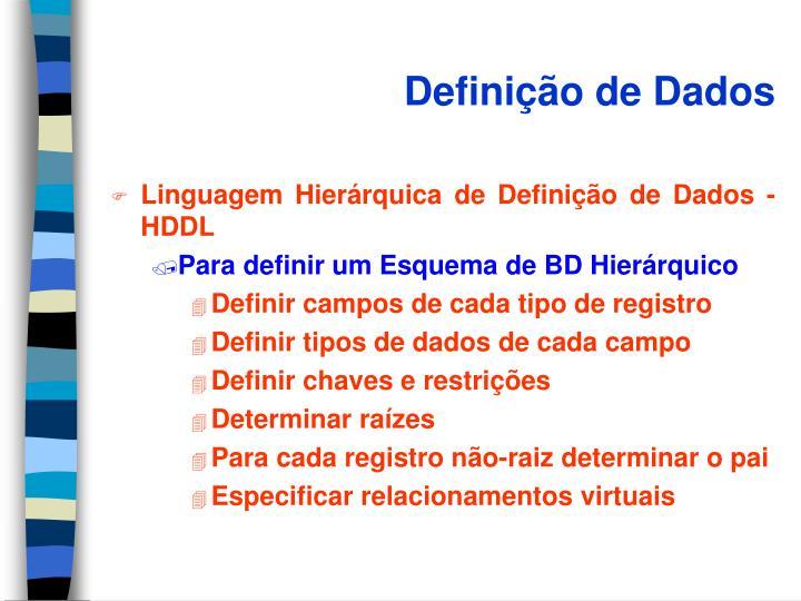 Definição de Dados