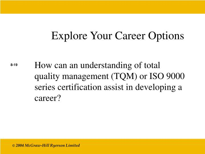Explore Your Career Options