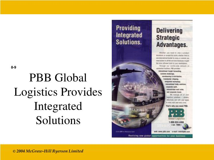 PBB Global Logistics Provides Integrated Solutions