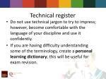 technical register