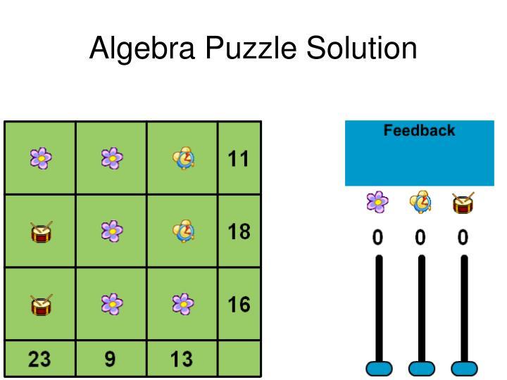 Algebra Puzzle Solution