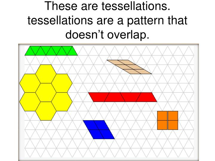These are tessellations. tessellations are a pattern that doesn't overlap.