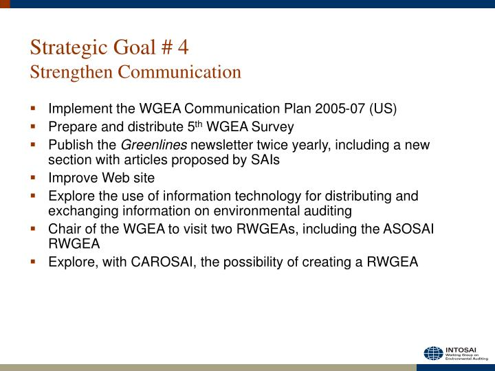 Strategic Goal # 4