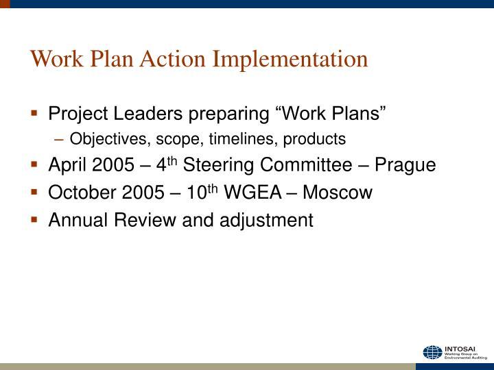 Work Plan Action Implementation