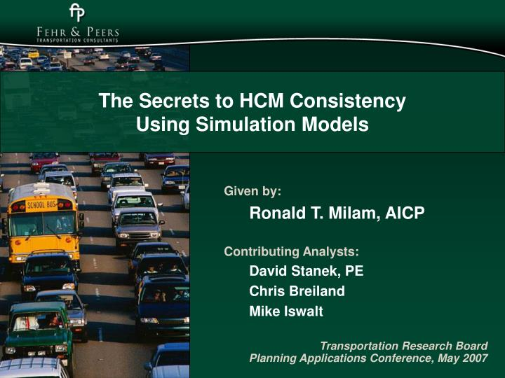 the secrets to hcm consistency using simulation models n.