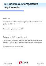 5 3 continuous temperature requirements