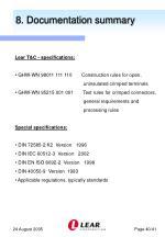 8 documentation summary