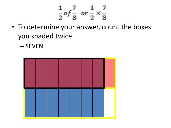 To determine your answer, count the boxes you shaded twice.