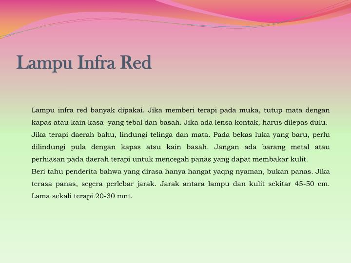 Lampu Infra Red