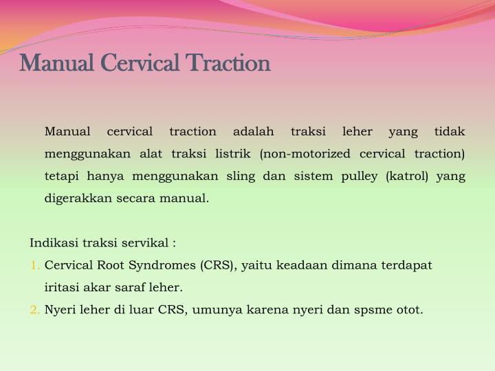 Manual Cervical Traction