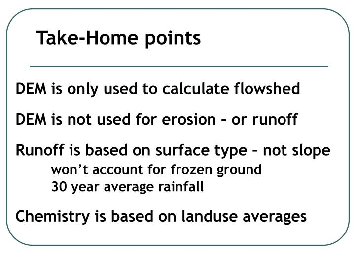 Take-Home points