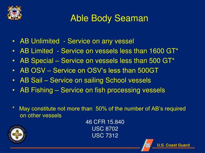 Able Body Seaman