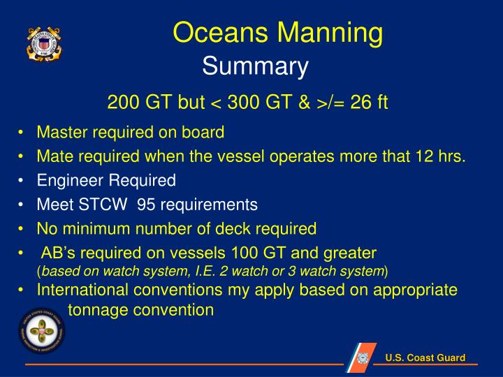 Oceans Manning