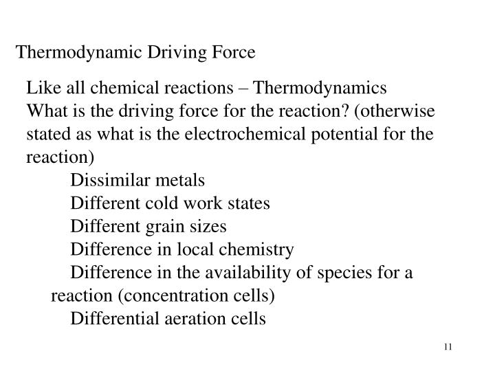 Thermodynamic Driving Force