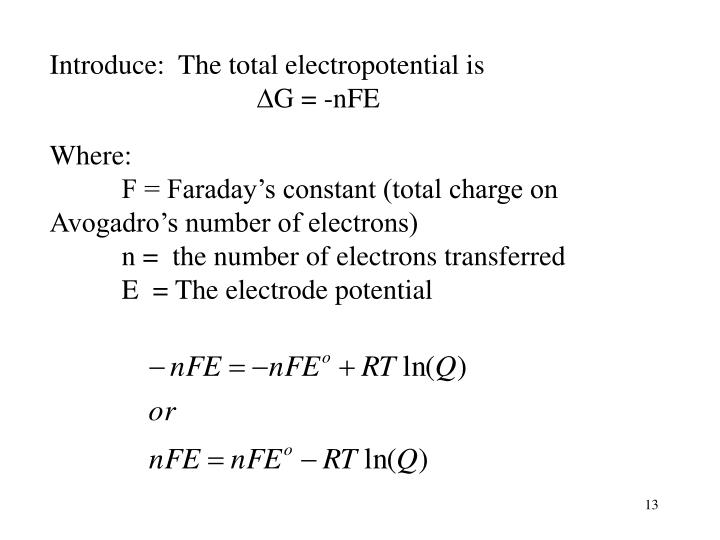 Introduce:  The total electropotential is