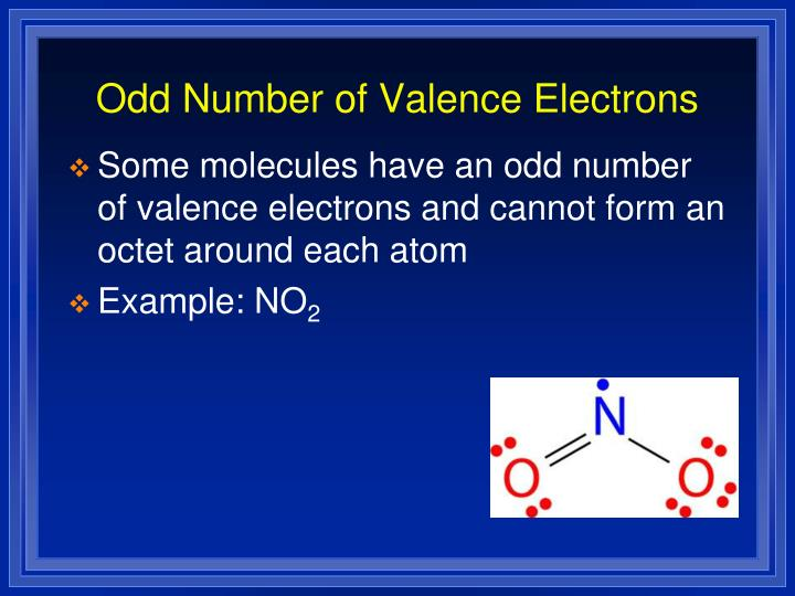 Odd Number of Valence Electrons