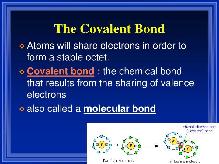 The Covalent Bond