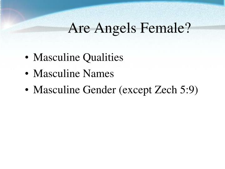 Are Angels Female?
