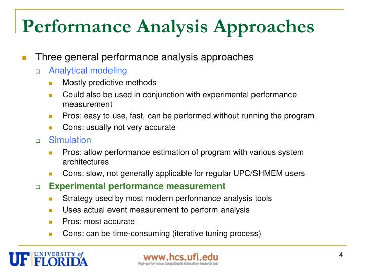 Performance Analysis Approaches