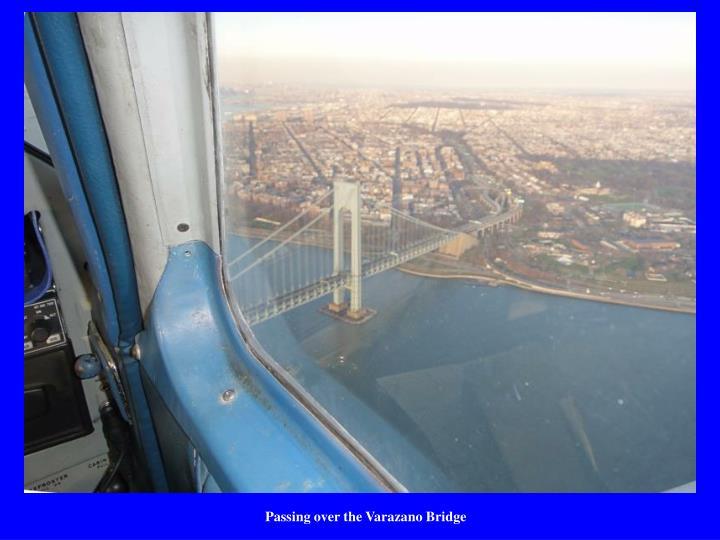 Passing over the Varazano Bridge