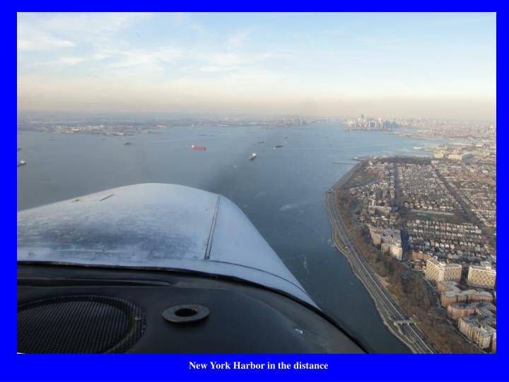 New York Harbor in the distance
