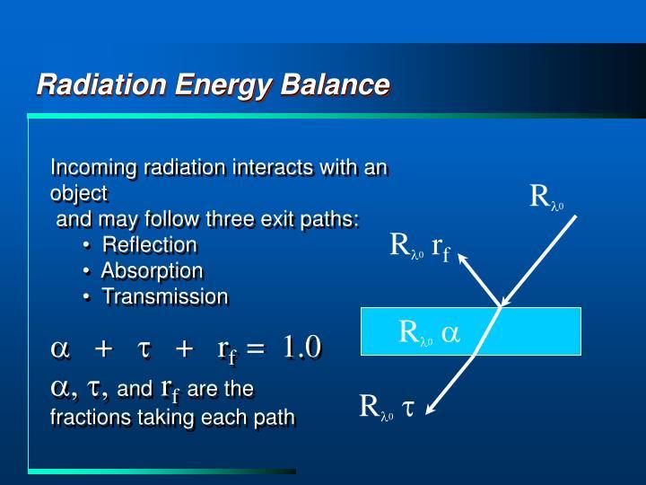 Radiation Energy Balance