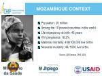 mozambique context