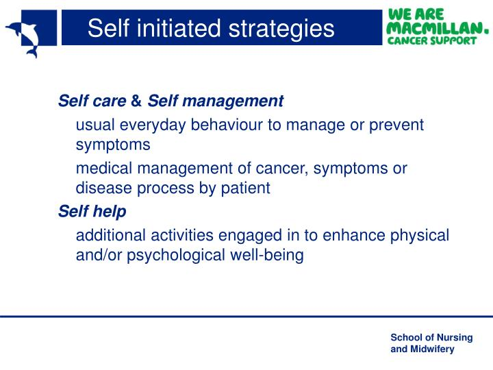 Self initiated strategies