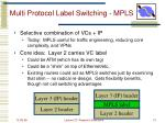 multi protocol label switching mpls