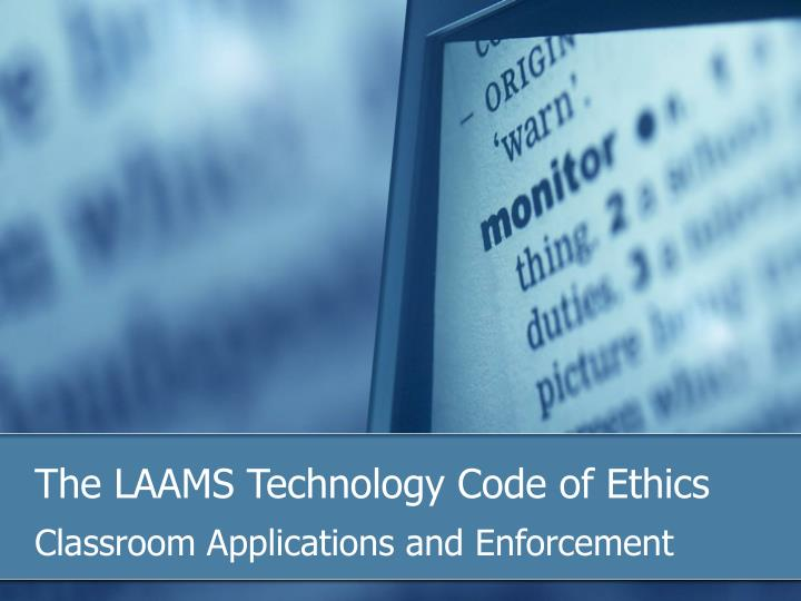 the laams technology code of ethics n.