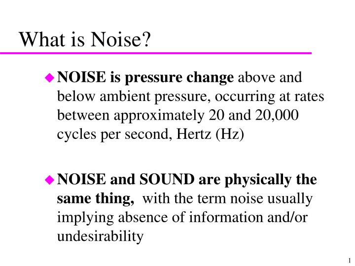 what is noise n.