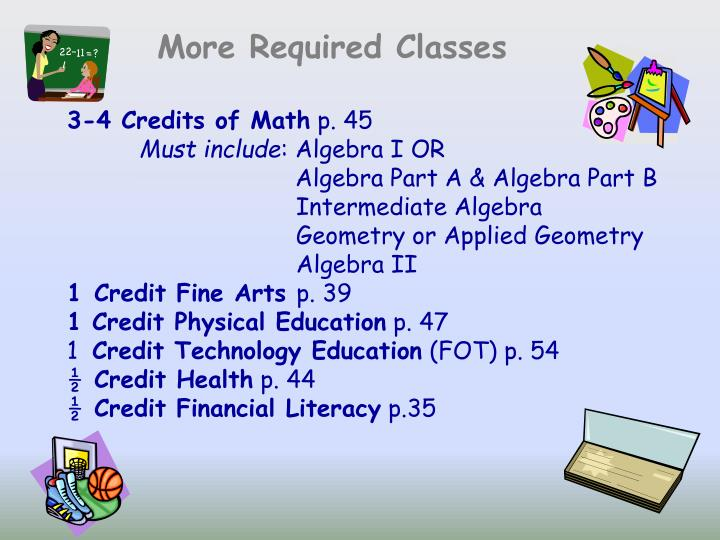 More Required Classes