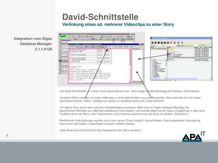 David-Schnittstelle