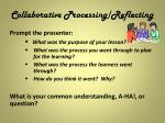 collaborative processing reflecting1