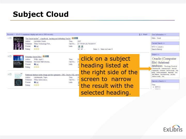 Subject Cloud