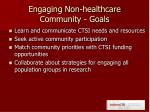 engaging non healthcare community goals