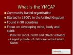 what is the ymca