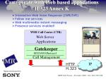 can operate with web based applications h 323 annex k