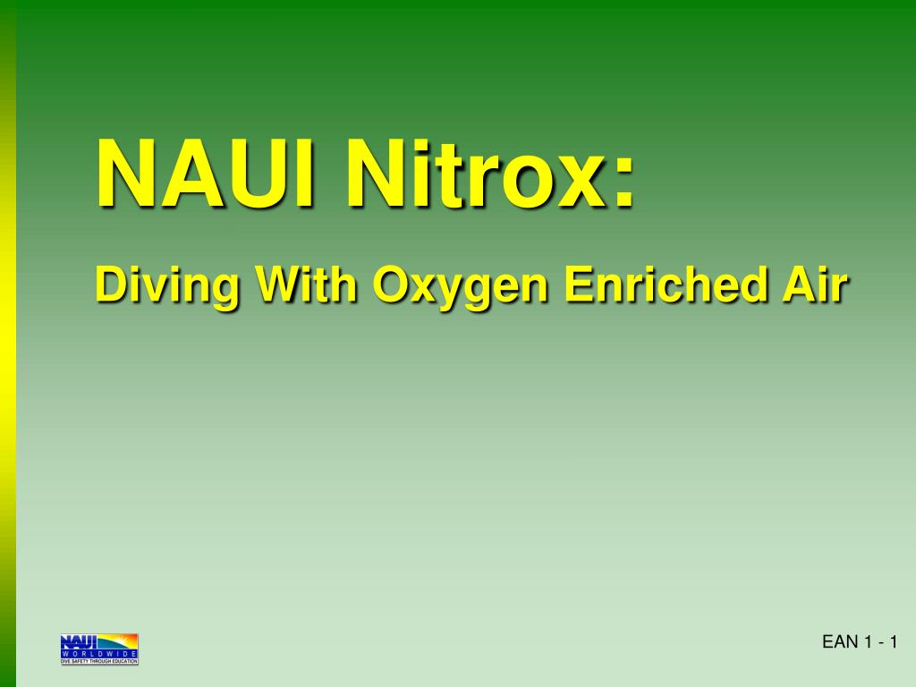 naui nitrox diving with oxygen enriched air n.