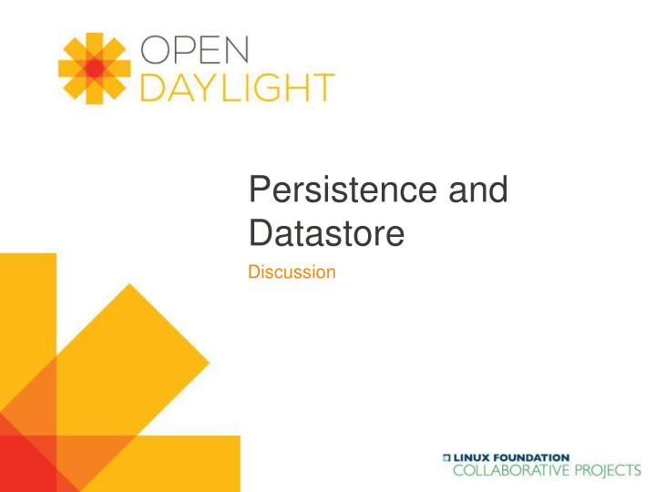 persistence and datastore n.