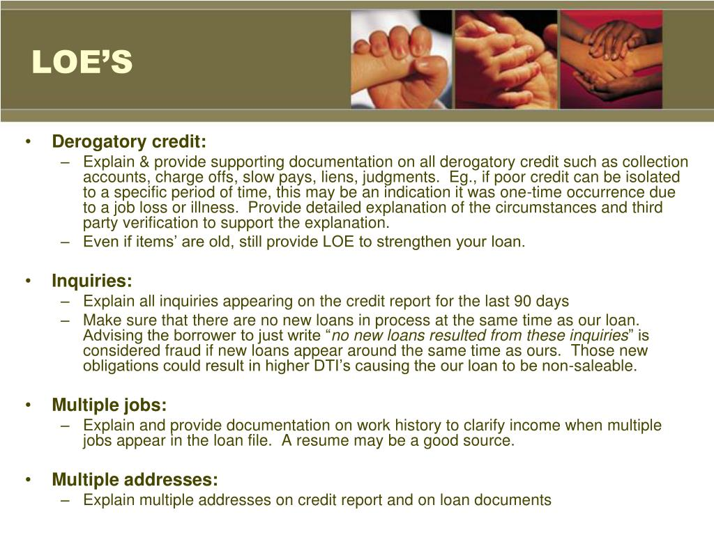 Letter Explanation Derogatory Credit from image3.slideserve.com