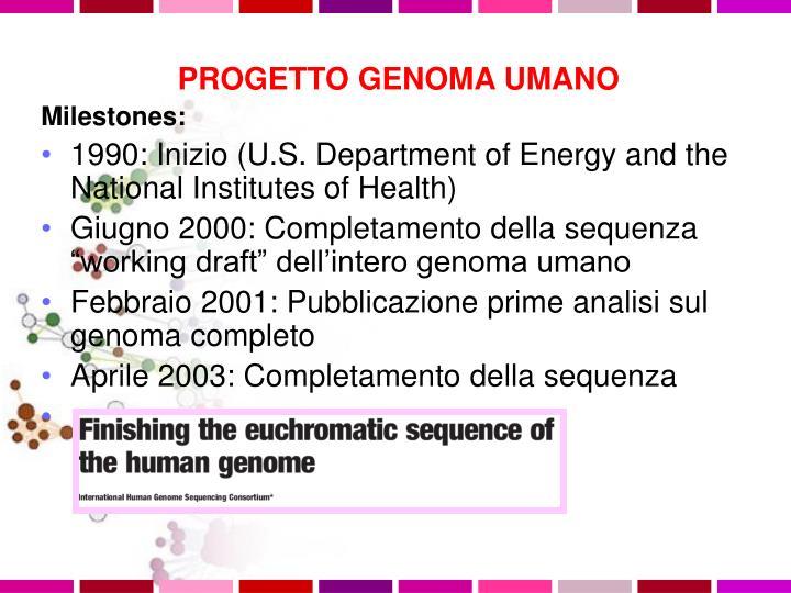 PROGETTO GENOMA UMANO