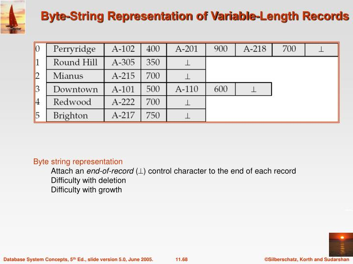Byte-String Representation of Variable-Length Records