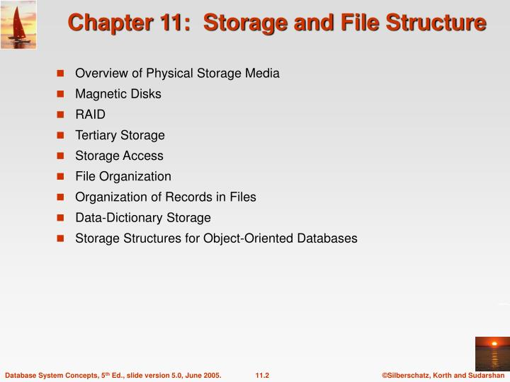 Chapter 11 storage and file structure1