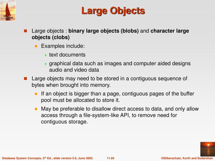 Large Objects