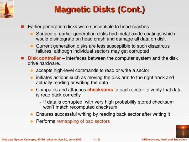 Magnetic Disks (Cont.)
