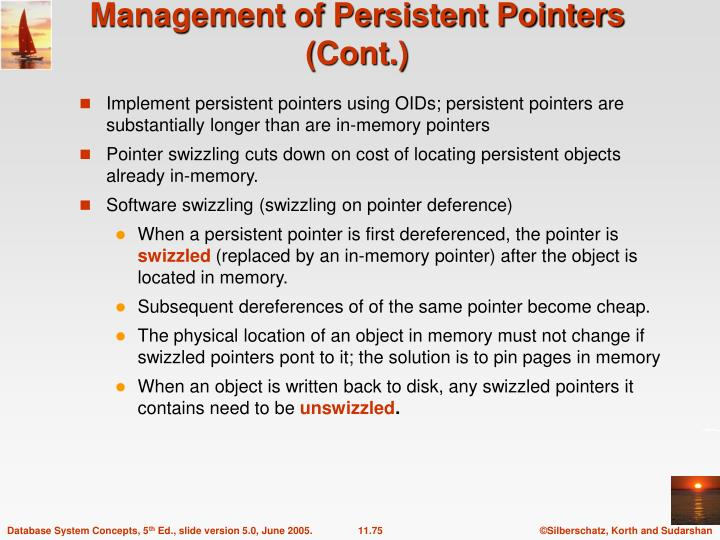 Management of Persistent Pointers (Cont.)
