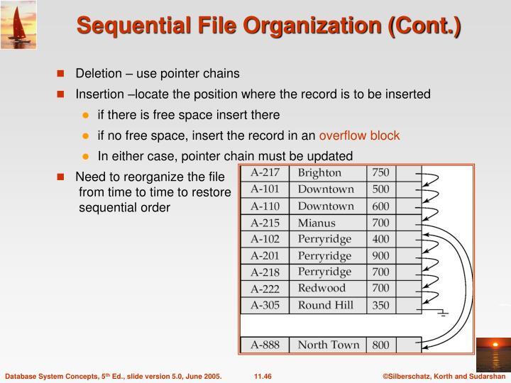 Sequential File Organization (Cont.)